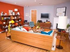 Image result for living rooms neutral colours with bright accents