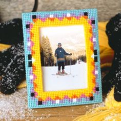 Free Colorful Frame Plastic Canvas ePattern