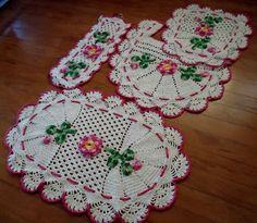 jogo de banheiro feito em croche com 4 peças – BlogXtube