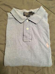 Men's POLO BY RALPH LAUREN Golf Shirt - Light Blue,  Textured - Size XL #PolobyRalphLauren #PoloRugby