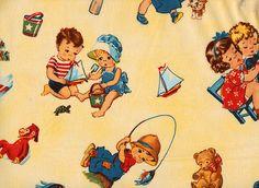 Tiny Tots Vintage - shelf fabric