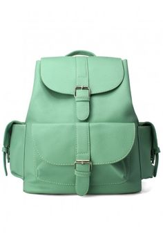 Chicwish Mint Backpack - New Arrivals - Retro, Indie and Unique Fashion Fashion Bags, Fashion Backpack, Fashion Accessories, Fashion Handbags, Green Fashion, Unique Fashion, My Bags, Purses And Bags, Mint Green
