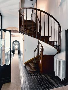 the stairs are perfectly lovely, but I also like the clean white with the dark wood.