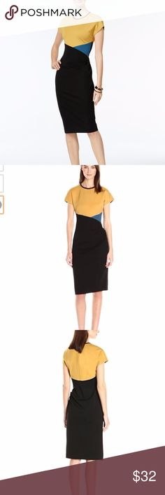 Anne Klein Color Block dress yellow black NEW 12 Sheath Dress, Peplum Dress, Dress Colour, Colorblock Dress, Yellow Dress, Yellow Black, Anne Klein, Fashion Tips, Fashion Design