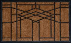"""Yes, it's a doormat. Idea: Simple background fabric, appliqued """"stained glass"""". Easier than piecing..."""