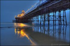 Eastbourne pier lit up Great Places, Places To Go, East Sussex, Countries Of The World, Great View, Great Britain, Beautiful Landscapes, The Locals, Countryside