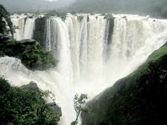 Joger Gerosoppa Falls Jog Falls is the second-highest plunge waterfall in India, Located near Sagara, Karnataka, these segmented falls are a major tourist attraction. They are also called Gersoppa Falls and Jogada Gundi.