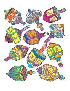 ColorIt Free Coloring Pages Colorist: Denise S Daniel #coloringforadults #adultcoloringpages #FreeHanukkahPages