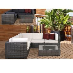 This 6-piece wicker sectional combines quality, style and comfort. This modern set will make an immediate impact on your patio. It's contemporary style, combined with the ability to re-arrange the individual pieces, makes this the perfect set.