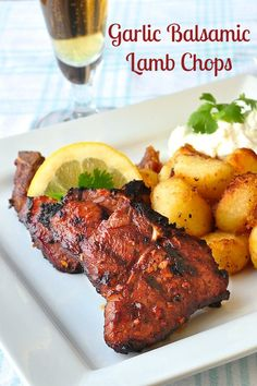 Garlic Balsamic Lamb Chops – a very simple marinade that pairs very well with the flavor of grilled lamb. Serve with Lemon Herb Roast Potatoes, Lemon Mint Tzatziki and a Greek side salad for an exceptionally delicious meal.
