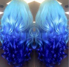 New hair color dark blue awesome Ideas Hair Dye Colors, Ombre Hair Color, Cool Hair Color, Dye My Hair, New Hair, Mermaid Hair, Rainbow Hair, Hair Designs, Pretty Hairstyles
