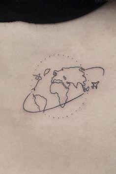 Female tattoo card with an airplane.-Женская татуировка карта с самолетом. Female tattoo card with an airplane. Tattoo Girls, Small Girl Tattoos, Little Tattoos, Tattoos For Women, Pretty Tattoos, Cute Tattoos, Unique Tattoos, Beautiful Tattoos, Tatoos