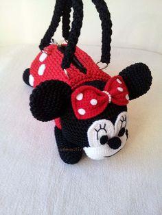 Minnie Mouse  Handmade crochet handbag  birthday by Solutions2511
