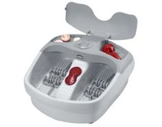Features/Specifications Product code: Acupressure massage rollers Multi-purpose pedicure set with 4 attachments Infrared massage Aroma diffuser Nail dryer 3 Massage settings Splash guard Relief for tired aching feet Massage Roller, Foot Massage, Acupressure Massage, Pedicure Set, Nail Dryer, Aroma Diffuser, Personal Care, Rollers, Tired