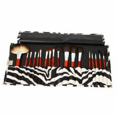 Professional 18 Pcs Makeup Make up Cosmetic Brushes Set Kit Eyeshadow Eyelash Eyeliner Eyebrow Lip Powder Blush Face Brush with Leopard Bag Case Pouch by Crazy Cart. $15.45. Features: 1. The makeup brush set is easy to carry and use 2. With superior-quality, the makeup brushes in the set will not irritate your skin 3. Durable unique packaging can well protect your makeup brushes 4. It is an important beauty essential for you 5. Handle made of plastic and aluminum 6. It is...