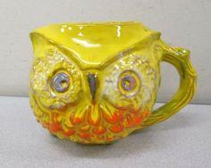 shopgoodwill.com: B Welsh Pacific Stoneware Pottery Owl Mug Vintage