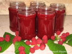Obżarciuch: Sok z malin Salsa, Strawberry, Jar, Canning, Fruit, Strawberry Fruit, Salsa Music, Home Canning, Strawberries