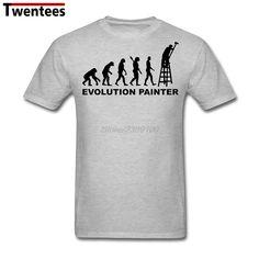 Custom Short Sleeve Valentine's Evolution Painter Shirt For Men Popular XXXL Family T Shirt #Affiliate