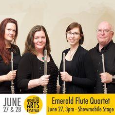 Emerald Flute Quartet #ShorelineArtsFestival