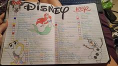 My Bullet Journal's Disney watch list❤