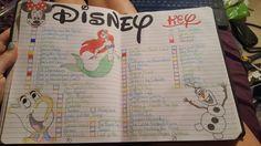 My Bullet Journal's Disney watch list❤