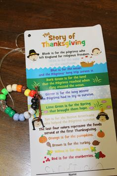 Just Reed - The Story of Thanksgiving Bracelet