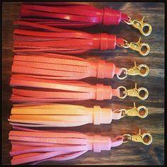 Leather Tassel Keychain by sixtyonetwentyfive on Etsy, $12.00