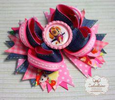 Skye Paw Patrol  Skye Hair bow  Pink Hair bow  Paw by ZakolkinoCom
