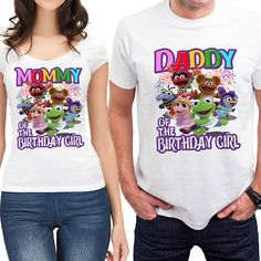 Muppet Babies Birthday T-Shirt White Second Birthday Ideas, Baby 1st Birthday, Boy Birthday Parties, Birthday Shirts, Birthday Favors, Muppet Babies, Baby Shirt Design, Baby Invitations, Baby Party