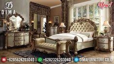 Set Tempat Tidur Ukiran Mewah Luxury Furniture Jepara Best Seller MMJ-0906