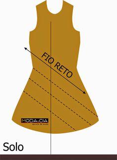 d8e3cb6ac Corte Enviesado   tipo de corte que dá mais caimento ao tecido peça. Ele é  feito no viés (diagonal) do tecido.