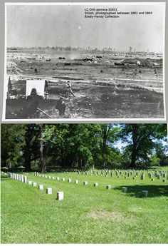 Shiloh battlefield, then and now