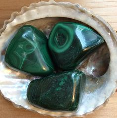 Malachite Large Tumbled Stone Healing Crystal by SoulswithHeart