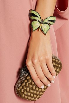 Valentino | Enameled gold-tone butterfly cuff | NET-A-PORTER.COM
