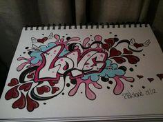 Love graffiti in my sketch book