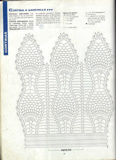 Handicraft: Patterns for beaded curtains / Crochet curtain patterns Crochet Blocks, Crochet Borders, Crochet Diagram, Crochet Stitches Patterns, Crochet Chart, Thread Crochet, Filet Crochet, Crochet Motif, Crochet Doilies