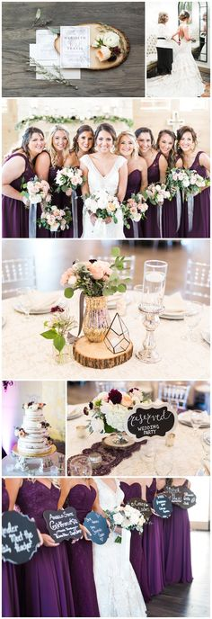 Pink, purple, and gold wedding - Soon to be Featured with Desiree Hartstock!! Allure low back wedding dress, purple bridesmaid dresses, pink, gold, and silver wedding décor! Dallas Wedding Photographer Adria Lea Photography at Hidden Pines Chapel
