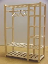 Doll Furniture Bed Room Wardrobe unpainted -- 1:6 scale Barbie