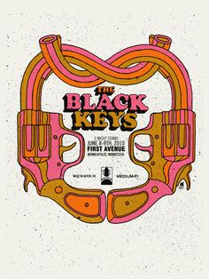 The Black Keys by Methane Studios. Words cannot describe how much I want this Milton Glaser-inspired poster. And the Cooper Black headline. It snagged me!