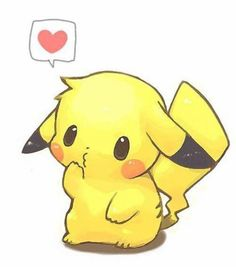 Pikachu Chibi Style from Pokemon Kawaii Anime, Art Kawaii, Chibi Anime, Kawaii Love, Kawaii Chibi, Kawaii Stuff, Cute Animal Drawings, Kawaii Drawings, Disney Drawings