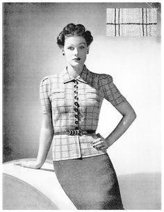 The Vintage Pattern Files: 1930's Knitting - Dunnellen 2 Piece Suit