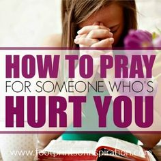 Learning how to pray for someone who's hurt you is one of the toughest things Jesus calls us to do. Learn how to move past your feelings and pray for them.
