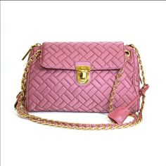 9d7dd162676f Get the trendiest Cross Body Bag of the season! The Prada Tessuto Nylon  Chain Handbag Pink Cross Body Bag is a top 10 member favorite on Tradesy.