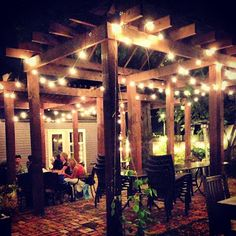 The patio at Rumors East in Nashville love the lights Franklin Tennessee, Chattanooga Tennessee, Grand Ole Opry, Tennessee Vacation, New City, Weekend Trips, Vacation Spots, The Great Outdoors, Places To Go