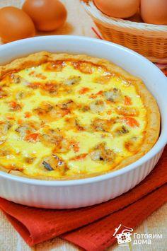 Рецепт Пирог с лососем и сыром (киш лорен)
