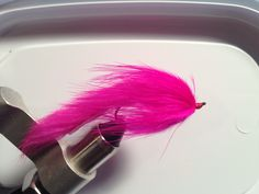 Pink marabou zonker