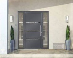 DIY Home Safety Units – Safeguarding Your Assets as well as Enjoyed Ones Front doors – exclusive doors – Aluminium doors + 2 side elements for any size in Home, Furniture & DIY, DIY Materials, Doors & Door Accessories Contemporary Front Doors, Modern Entrance, Modern Front Door, Aluminium Door Design, Aluminium Front Door, Main Door Design, Front Door Design, Front Door Entrance, House Entrance