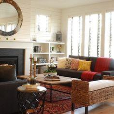 Modern Farmhouse Living Room 2 - farmhouse - living room - boise - Judith Balis Interiors