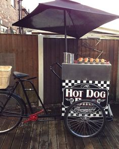 HOT DOG STREET FOOD CART BIKE FOR SELLING HOT-DOG IN THE STREET.