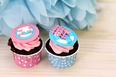 Lovely little cupcakes in candy cups {polkadot cups available through mon tresor.com.au}